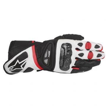 Alpinestars SP-1 Leather Motorcycle Sports Gloves Black White Red